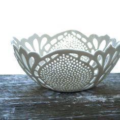 Simple Lace Bowl. $150.00, via Etsy.