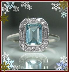 #Diamond #Engagement #Rings, #Jewelry #Aquamarine & #Ring #Engagement #Snowflakes #Winter #Ice #Blue #Gift #Christmas #Jewelry #The #Antiques #Room #Galway #Ireland Aquamarine Rings, Diamond Rings, Diamond Engagement Rings, Gemstone Rings, Engagement Jewelry, Art Deco Jewelry, Vintage Jewelry, Unique Jewelry, Galway Ireland
