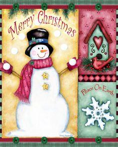 Artist Barbara Ann Kenney's licensed Christmas cutting board