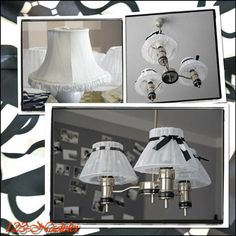 Lampenschirme aus Gardinen / Lampshades made from curtains / Upcycling