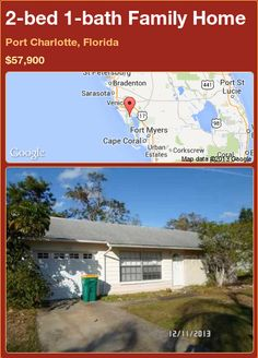 2-bed 1-bath Family Home in Port Charlotte, Florida ►$57,900 #PropertyForSale #RealEstate #Florida http://florida-magic.com/properties/91198-family-home-for-sale-in-port-charlotte-florida-with-2-bedroom-1-bathroom