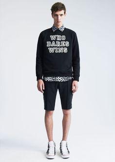 "Markus Lupfer ""Who Dares Win"" Cotton Jersey Sweatshirt"
