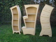 Whimsical furniture for a kids room perhaps Diy Garden Furniture, Funky Furniture, Unique Furniture, Repurposed Furniture, Furniture Projects, Kids Furniture, Furniture Decor, Painted Furniture, Furniture Stores
