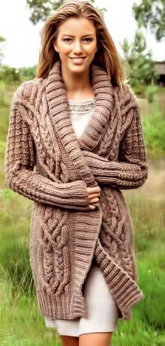 Warm and comfortable knitted cardigan