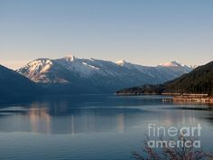 A peaceful winter scene on Kootenay Lake, B.C.