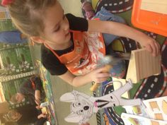 #FlatChuckE chuck E cheese helping us at Home Depot kids craft time
