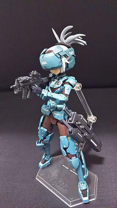 Cyberpunk Anime, Cyberpunk Character, Character Art, Character Design, Gundam Toys, Frame Arms Girl, Robot Girl, Hero Girl, Robot Design