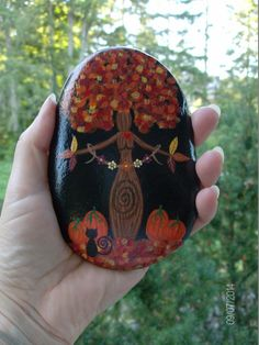 Autumn Equinox: At the #Autumn #Equinox ~ Autumn Foiliage Gaia/Mother Earth Goddess by MarciaStewartArt.