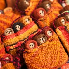 Peruvian folk art dolls.