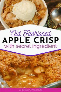 apple crisp recipe with oats ; apple crisp without oats ; apple crisp recipe with oats easy ; Apple Crisp Without Oats, Apple Crisp Topping, Caramel Apple Crisp, Apple Crisp Easy, Apple Crisp Healthy, Homemade Apple Crisp, Mini Desserts, Apple Dessert Recipes, Easy Apple Desserts