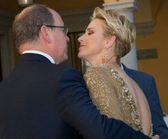 Prince Albert and Princess Charlene of Monaco at the 56th International Television Festival in Monte-Carlo. June 14 2016
