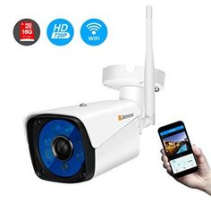 Buy Wireless Security Camera,Jennov Wireless WiFi Bullet IP Camera Waterproof Outdoor and Home Video Surveillance Camera Pre-Installed Micro SD Card Motion Detection Night Vision at Discounted Prices ✓ FREE DELIVERY possible on eligible purchases. Wireless Security Cameras, Wireless Camera, Wifi, Pet Camera, Video Surveillance Cameras, Photography Pricing, Bullet Camera, Audio, Sd Card