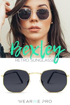 728b767a649d2 Bexley Geometric Retro Round Hexagonal Stylish Sunglasses. Retro design  paired with a slight geometric vibe