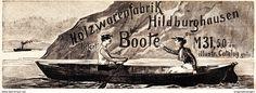 Werbung - Original-Werbung/ Anzeige 1901 - HOLZWARENFABRIK HILDBURGHAUSEN / MOTIV BOOTE - ca. 160 x 70 mm