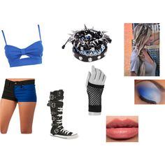 Blue WWE Diva Attire by miss-kyla on Polyvore featuring polyvore, fashion, style, Converse, Pull&Bear, claire's and Bobbi Brown Cosmetics