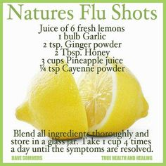 Natural Flu Shot