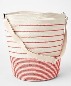 www.imdb.me/jessicasirls  fashion style tote beach bag stripes red and white  Every Essential to Pack in Your Beach Bag This Summer via @WhoWhatWear