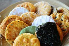 Senbei ( Japanese rice cracker )