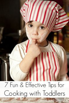 Fun and effective tips for cooking with toddlers. They should learn cooking with fun. Toddler Play, Toddler Learning, Toddler Preschool, Toddler Crafts, Toddler Activities, Preschool Classroom, Preschool Ideas, Early Learning, Learning Activities