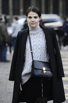 Chunky sweater, Celine crossbody