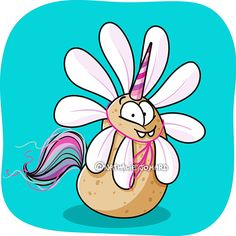 C'est officiel, le printemps est là, les Patates-Licornes sont en fleur ! Monsieur Madame, Illustrations, Smurfs, Lol, Officiel, Instagram, Fictional Characters, Short Stories, Humor