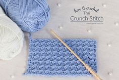How To: Crochet The Crunch Stitch - Easy Tutorial