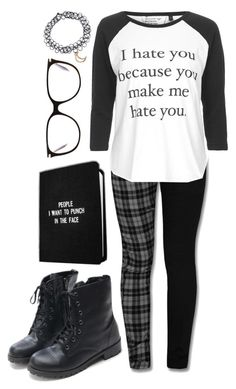 """""""The Antisocial Emo"""" by spnlex ❤ liked on Polyvore featuring Hai, Topshop and Victoria Beckham"""