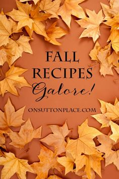 Huge collection of recipes perfect for Fall. Includes breads, cakes, soups, cookies and much more!