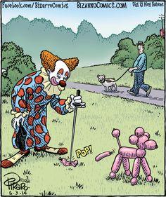Bizarro! (sort of strange, but sort of funny too)