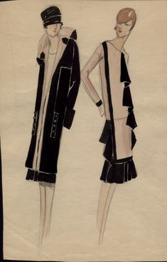 Some original art deco fashion, the structure, need that coat.
