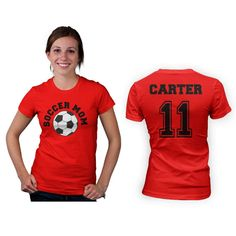 Soccer Mom Womens T Shirt - Front and Back Design on Etsy, $24.99