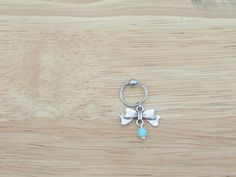 Bow Captive Bead Hoop Cartilage Earring Helix by LostAtSeaJewelry, $11.00