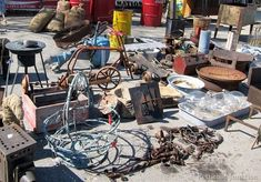 Rusty Junk Heaven-The Nashville Flea Market Nashville Flea Market, Metal Lawn Chairs, Rusty Metal, Queen Mattress, Fleas, Painted Furniture, Heaven, Marketing, Cool Stuff