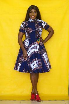 Vintage pattern blue-black Dress, black panther lady dress,African pretty dress with double pockets,Fancy high neck formal attire,Prom dress African Dress Patterns, African Print Dress Designs, African Wear Dresses, Latest African Fashion Dresses, African Print Fashion, African Attire, Africa Fashion, African Blouses, Black And Blue Dress