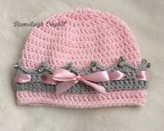 Girly Crown Hat {FREE PATTERN} :-) ༺✿ƬⱤღ  http://www.pinterest.com/teretegui/✿༻