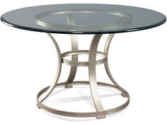 Metal Table Base with Standard Aged Platinum finish. Designed to accept a variety of tops.