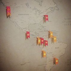 #rahworldtour #map. Love placing a pin on a new country every month. #radandhungry