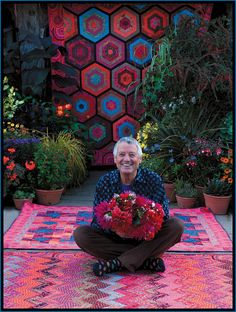 Kaffe Fassett works primarily in fabrics, but is also a mosaic artist. I love his amazing use of beautiful colours!