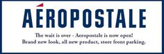 Shop the All New Aeropostale Is now open!