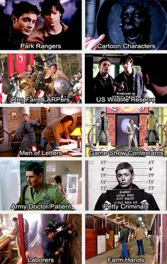 (gif set) Supernatural Dress Up 5