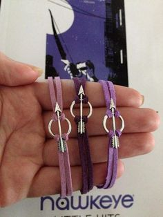 NEW! Hawkeye Inspired Purple Faux Suede & Silver Arrow Bracelet - Clint Barton Kate Bishop - THREE COLORS! - Nerd Jewelry and Geeky Gifts | $8.00