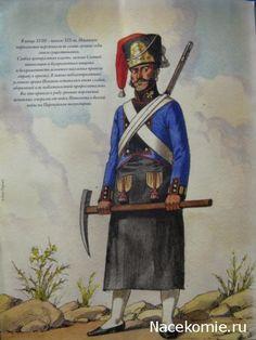 """Guerres Napoléoniennes №81 Démineur régiment d'infanterie de ligne """"Princess"""" de l'armée espagnole, 1807-1808."""