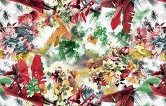 Estampa do dia Nanete Têxtil #malha #estampa #estamparia #colors #cores #verão2015 #tropical #coqueiros www.nanete.com.br