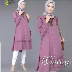 Abaya Fashion, Diy Fashion, Fashion Dresses, Abaya Designs, Kurta Designs Women, Blouse Batik, Casual Hijab Outfit, Muslim Dress, Islamic Fashion