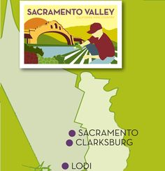 Map of Wine Grape Growing Regions in California - Sacramento Valley