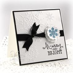 Clean & simple (CAS) holiday card by Julee Tilman using Verve Stamps.