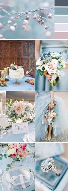 dusty blue wedding color inspiration for 2017