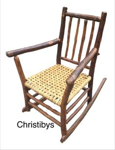 Signed Old Hickory rocker, mint all original condition. Available, Christibys