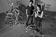 Tim Noble and Sue Webster's belters: the London art duo share their studio…