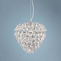 "Possini Euro Design Isabela 12"" Wide Crystal Pendant Light"